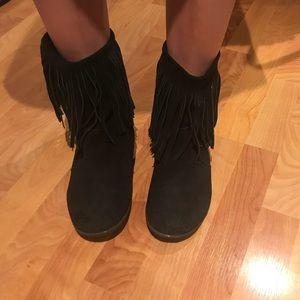 Rebel comfy flat moccasin booties
